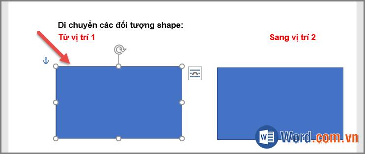 Di chuyển đối tượng trong Shapes